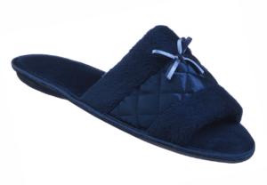 Satin Fiber Open Toe Slipper for Ladies