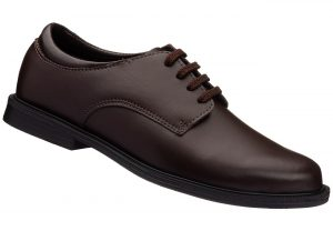 Brown Unisex School Shoe