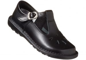 Black T-Bar School Shoe for girls