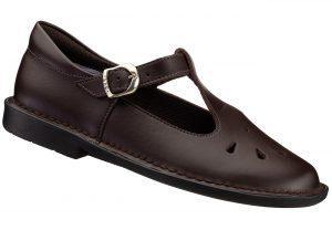Brown T-Bar School Shoe for girls