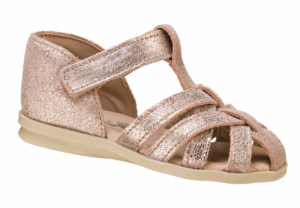 girls strappy glitter closed back sandal