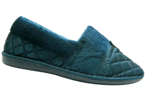 Ladies Closed Back Quilted Satin Slippers
