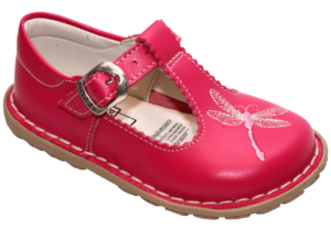 Girls Embroidered Dragonfly Shoe