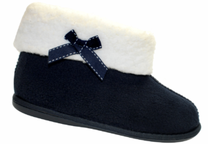 Ladies Sherpa Bow Boot Navy