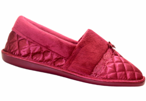 Ladies Closed Back Quilted Slipper Berry